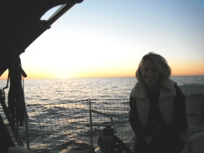 Sunset on my first night at sea