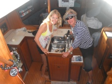 Cooking at sea is always interesting