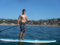 We rented paddle board at Sayulita - no room to sit on the beach!