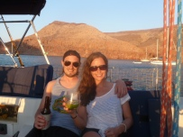 Em and Craigh enjoying sundowners