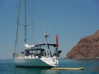 Hydroquest at anchor in Caleta Partida