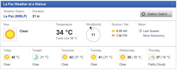 La Paz temperature