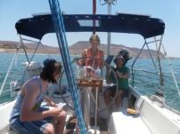 Sailing out of La Paz