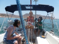 Sailing out of La Paz