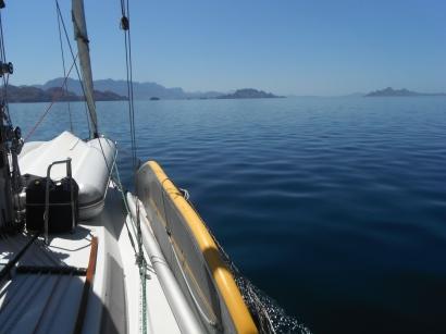 Approaching Punta Candeleros
