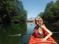 Kayaking up the Courtenay River - the Slough