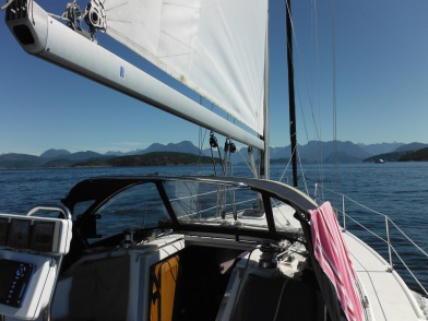 View as we head into Desolation Sound