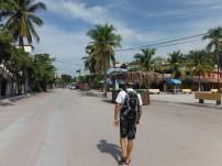 Walking down the main street