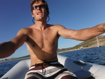 We anchored way too far out - tough dingy ride to shore