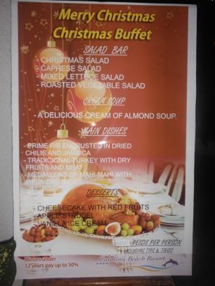 Christmas buffet at Catalina Hotel - amazing food
