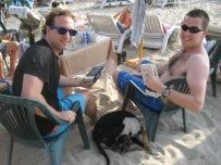 My bro's at the beach