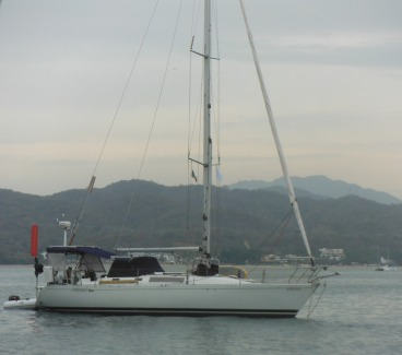 Hydroquest at anchor in La Cruz, almost ready for a 2800 nm sail