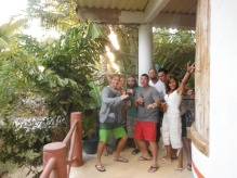 The overnight Sayulita gang outside our cool beach hostel room