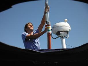 Backstay antenna for the SSB Radio