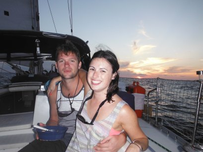 Ben and Katy... departure sunset