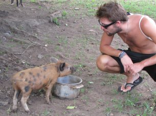 Ben and a pig