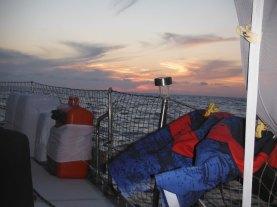 Sunset and swim trunks