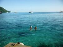 Sarah and Katharine swim in Fare