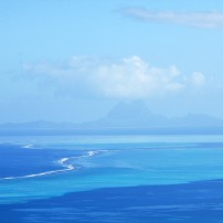 Oh ya! BORA BORA with Tahaa's reef in the foreground.
