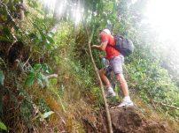 Hiking straight uphill
