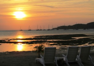 Sunset at Malolo lailai