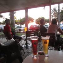 Les 3 Brasseurs at sunset