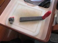 Minor breakage - a winch handle
