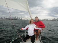 Sailing towards Sydney CBD, November 22, 2013