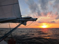 Sunset at sea... sailing from Trail Bay to Port Stephens