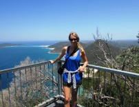 Sarah at the top. So many beaches down below!
