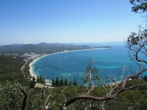 Looking down to Shoal Bay and Port Stephens beyond