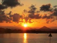 Beautiful river sunset