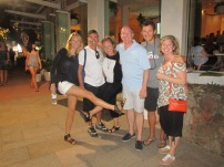 Outside the Sheraton Beach Club Bar... our fav spot