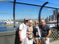 With my parents on the Harbour Bridge!