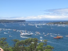 Thousands of spectator boats... an idea of what NYE will be like!