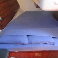 Aft cabin bed, custom matress