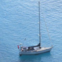Hydroquest anchored in the Yasawas, Fiji