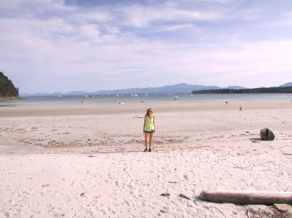 Hornby Island - Tribune Bay white sand