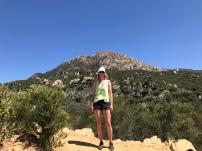 Hiking above SB